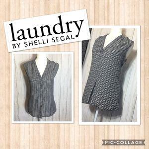 Laundry Shelli Segal Black & White Top